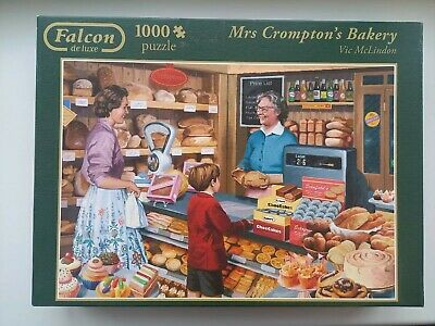 £1.20 • Buy Falcon Deluxe 1000 Piece Jigsaw Puzzle Mrs Crompton's Bakery Vgc
