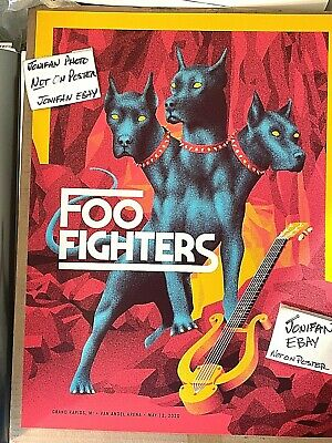 $49.77 • Buy THE FOO FIGHTERS Grand Rapids MI 2020 Screen Print Canceled Concert Poster