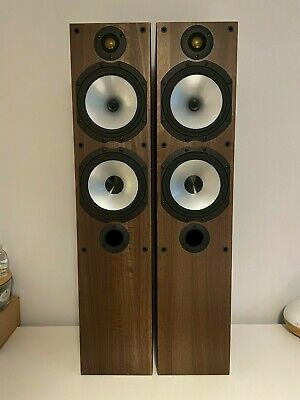 £180 • Buy Monitor Audio MR4 Walnut Floor Standing Speakers - Great Condition - Boxed