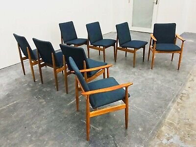 AU3800 • Buy Mid Century Modern, MCM, Set 8 Parker Dining Chairs, Includes 2 Carvers