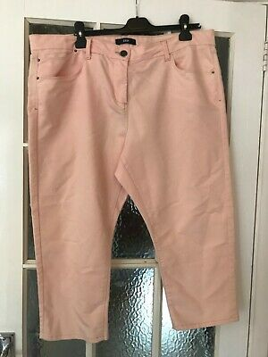 £0.99 • Buy Peach Cropped Trousers - Size 20  - Marks And Spencer