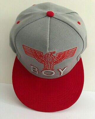 £4.99 • Buy BOY London Cap Grey With Red With Eagle Logo