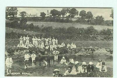 £2.99 • Buy Mostyn House School Parkgate Cheshire School Picnic RP Postcard Unosted 1919 AE