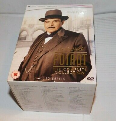 £28 • Buy Poirot.  The Complete Collection Of Agatha Christie's Hercule Poirot Tv Episodes