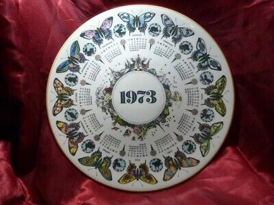 £7 • Buy A Wedgwood  Bountiful Butterfly  Calendar Plate 1973 10inches