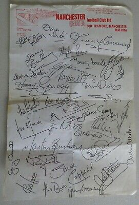 £0.99 • Buy Manchester United Ticket Information Sheet With Facsimile Autographs On Reversee