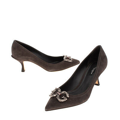 £58 • Buy RRP €830 DOLCE & GABBANA Suede Leather Court Shoes EU 38 UK 5 US 8 Made In Italy