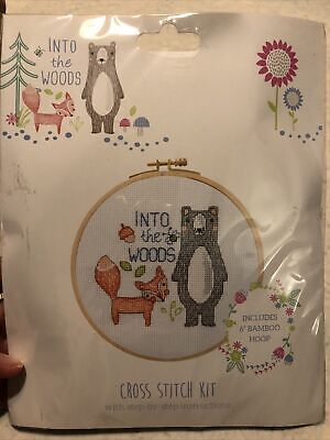 £1.60 • Buy Cross Stitch Kit Into The Woods