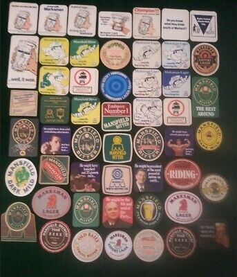 £15 • Buy Vintage MANSFIELD BREWERY Beer Mats Job Lot Of 52 All Diff Including Rare Flimsy