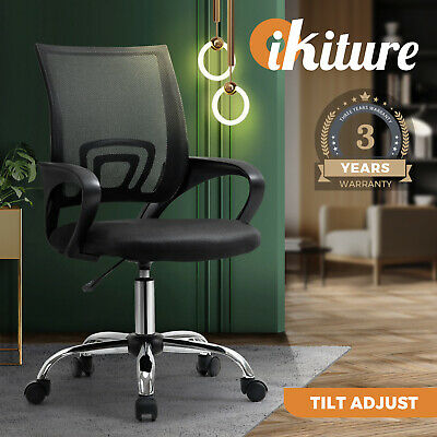 AU79.90 • Buy Oikiture Office Chair Gaming Chair Black Computer Mesh Chairs Executive