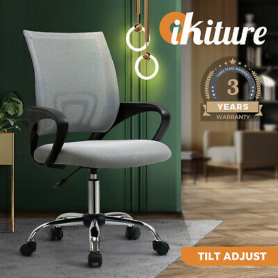AU79.90 • Buy Oikiture Office Chair Gaming Chair Grey Computer Mesh Chairs Executive Foam Seat
