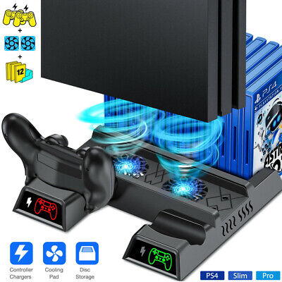 AU36.89 • Buy Stand Cooling Fan + Dual Controller Charging Dock Station For Playstation 4 PS4