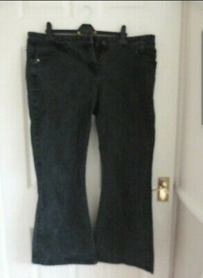 £2.50 • Buy New Listing,,,black Flared Jeans Size 18 Short