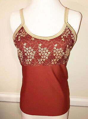 AU57.92 • Buy SAVE THE QUEEN Multicolor Embroidered Floral Overlay Sleeveless Knit Top Size L