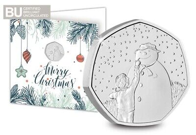 £8.99 • Buy The Snowman BU 50p UK 2021 Coin Brilliant Uncirculated Christmas Pence On Card