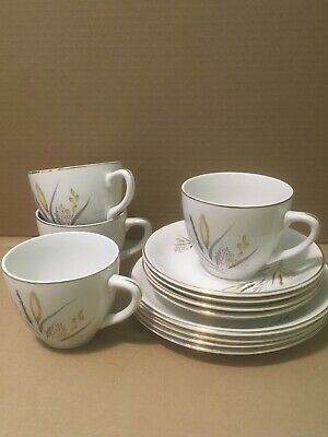£9 • Buy Barratts Delphatic Tableware, Five Matching Cups, Saucers & Tea Plates..