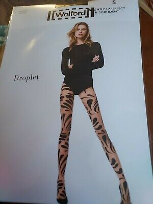 £3.10 • Buy Wolford Droplet Tights, Black/black, Small, Slight Imperfect