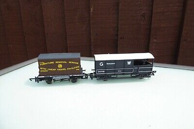 £13.99 • Buy  2 X Hornby GWR Wagons - R6131 Conflat With Container & R6077 20T Toad Brake Van