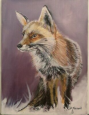 £130 • Buy Red  Fox  Hunting Portrait Oil On Canvas