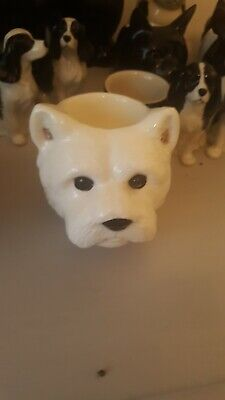£12 • Buy West Highland White Large Terrier Face Egg Cup By Quail Ceramics