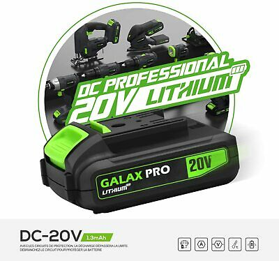 £32.99 • Buy GALAX PRO 20V MAX 1.3Ah Lithium Ion Battery Pack And Quick Charger, Replacement