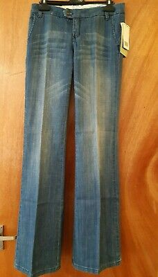 £25.99 • Buy Mango Women's Chino Flare Mid Wash Low Rise Blue Jeans Size 8 BNWT