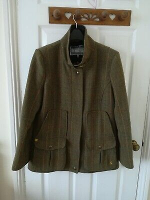£51 • Buy Joules Tweed Field Coat,Mr Toad Green Check, Size 18, Used Very Good Condition.