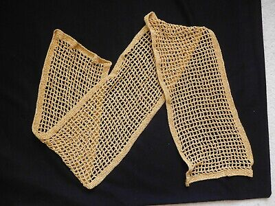 £24 • Buy TWILLEYS  GOLDFINGERING  HAND CROCHETED  SCARF  61 Inches Long