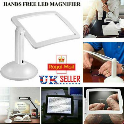£8.95 • Buy LED Magnifying Glass Stand With Light Lamp Hands Free Magnifier Foldable Clamp