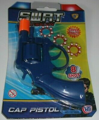 £2.99 • Buy Toy Swat Mission Cap Gun With Caps (3 Rings Of 8 = 24 Shots) Kids Children Gift