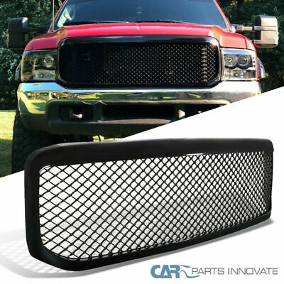AU154.38 • Buy 99-04 Ford F250 F350 Super Duty 1PC Mesh Glossy Black Front Hood Grille Grill