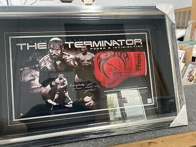 AU895 • Buy MIKE TYSON Autograph Signed Boxing Glove FRAMED COA Photo Proof Authentic AAA