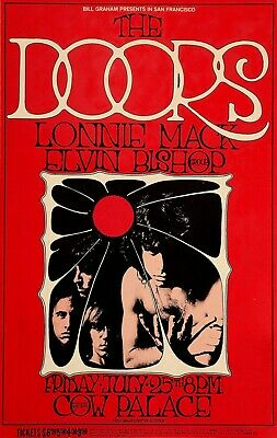$15.99 • Buy 1968 The Doors Lonnie Mack Elvin Bishop Cow Palace Reprint Concert Poster 13x19