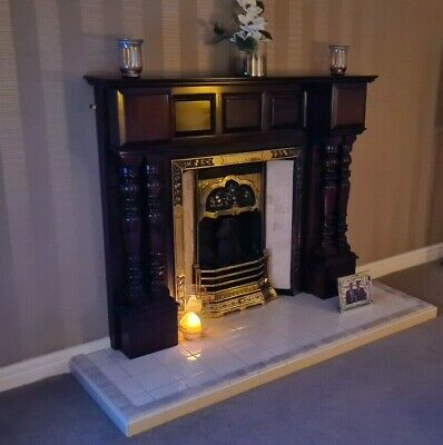£349 • Buy Tiled Victorian Style Fireplace With Large Adam Style Wooden Surround