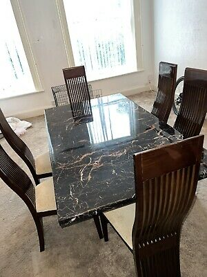 £103 • Buy Marble Dining Table And Chairs