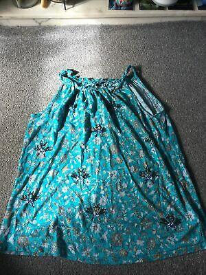 £4.49 • Buy Ladies Turquoise Halter Neck Top Beaded Detail From Next Size 12