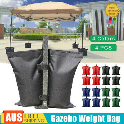 AU23.19 • Buy 4PCS Garden Gazebo Foot Leg Feet Weight Sand Bags For Marquee Party Tent AU