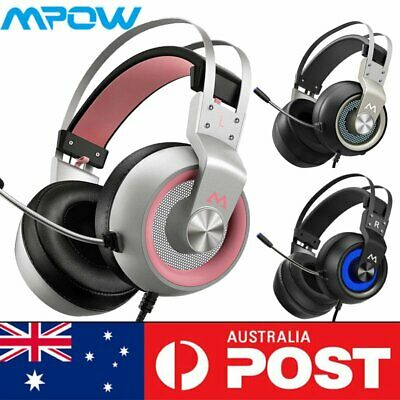 AU57.51 • Buy Gaming Headset USB Wired LED Headphones Stereo With Mic For Xbox One/PS4 PC V3C7