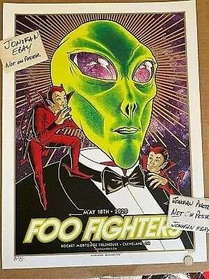 $97.77 • Buy THE FOO FIGHTERS Cleveland OH 2020 AP ScreenPrint Concert Poster SIGNED S/N #/50