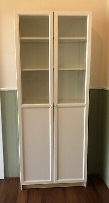 AU80 • Buy IKEA BILLY Bookcase With Classy OXBERG Doors - Like New - Sells At IKEA $279