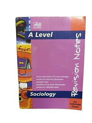 £1.50 • Buy Advanced Level Sociology: Revision Notes (A Level Revisio... By Morgan Paperback