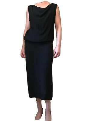 £39.99 • Buy Vivienne Westwood Anglomania Black Long Dress Size UK8 Small Formal Tailored