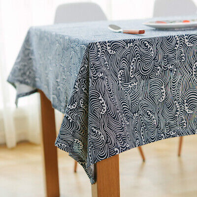AU13.88 • Buy Tablecloth Cotton Linen Table Cover Rectangle For Kitchen Dining Tabletop Decor