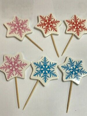 £1.25 • Buy Snowflakes Topper Cup Cake Toppers