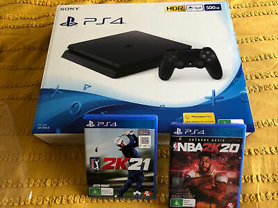 AU299 • Buy PS4 Slim 500GB COMPLETE Boxed + 2 Games - PlayStation *Mint. Condition