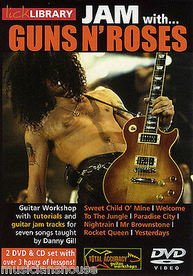 LICK LIBRARY Learn To Play JAM WITH GUNS N ROSES Sweet Child O Mine GUITAR DVD • 22.24£