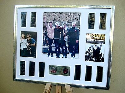 £89.99 • Buy Rolling Stones Stunning Framed Xl 35mm Film Cell Montage Shine A Light