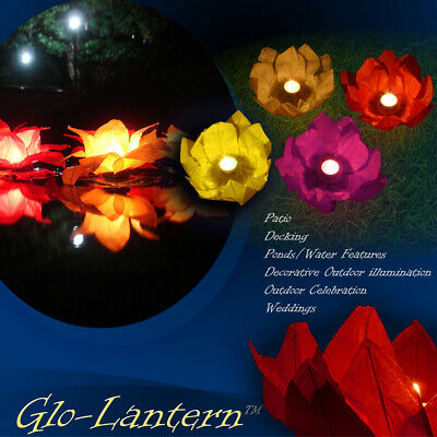 4 Mixed Colour Chinese Garden Or Water/pond Lanterns • 7.99£