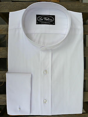White Tunic Shirt In 100% Cotton – Double Cuffs From Tails And The Unexpected • 75£