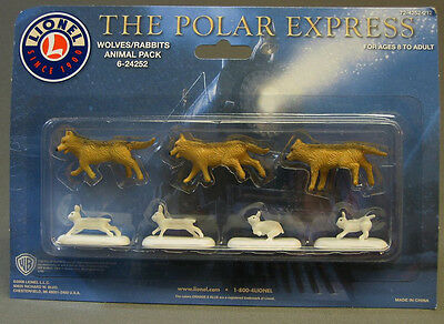 $22.84 • Buy LIONEL POLAR EXPRESS WOLVES BUNNY FIGURES Train People Animals Wolf 6-24252 NEW